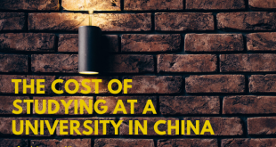 The cost of studying at a university in China